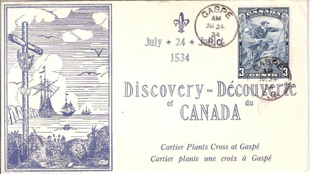 208 Discovery of Canada Le Collectionneur cachet
