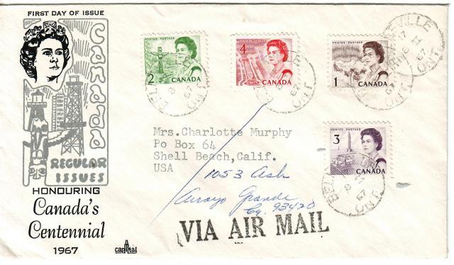 1967 - Capital - Regular Issue - 1c-4c