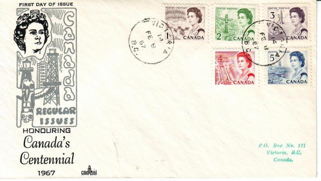 1967 - Capital - Regular Issue - 1c-5c