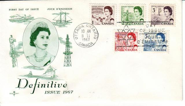1967 - Rose Craft - Green Queen - Comb - 1,2,3,4,5
