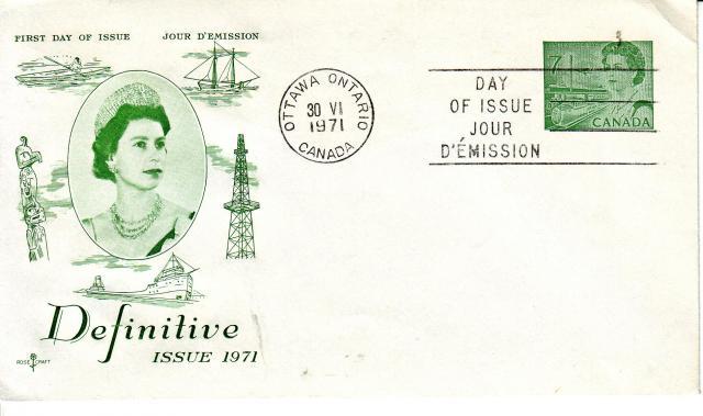 1967 - Rose Craft - Green Queen - 7c Envelope