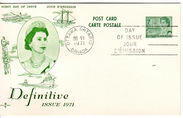 1967 - Rose Craft - Green Queen - 7c Post Card