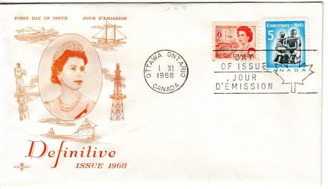 1967 - Rose Craft - Orange Queen - Comb - 6c Orange, 5c Xmas