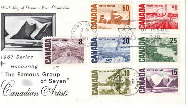 1967 - Rose Craft - Cdn Artists - Comb - 8c to 1.00