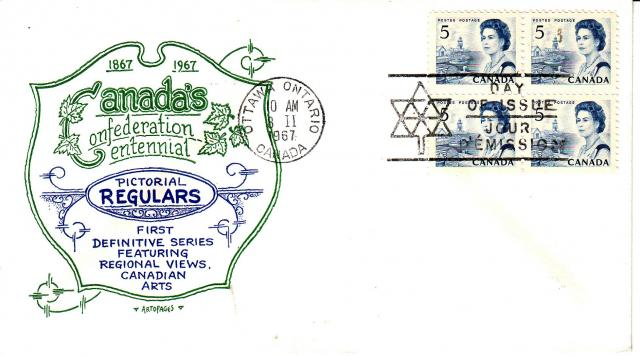 1967 - Artopages - Green & Blue - 5c x4