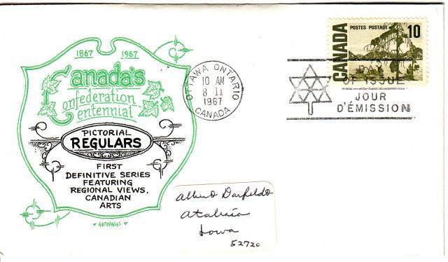 1967 - Artopages - Lite Green & Black - 10c