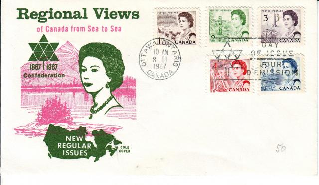 1967 - Cole - Queen with Rose - Comb - 1,2,3,4,5