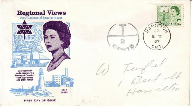 1967 - Cole - Queen with Blue - 2c Postage Due