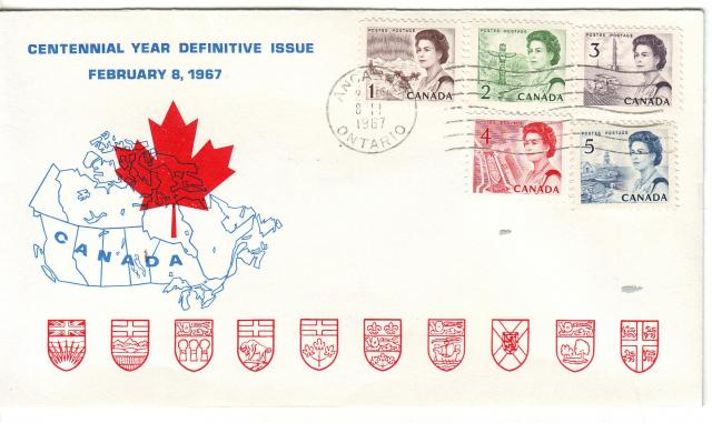 1967 - Personal - Blue with Red Leaf - Comb - 1,2,3,4,5