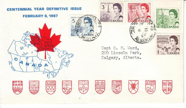 1967 - Personal - Blue with Red Leaf - Comb - 3,4,2,5,1