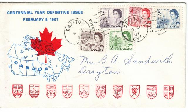 1967 - Personal - Blue with Red Leaf - Comb - 3,4,5,1,2