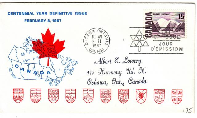 1967 - Personal - Blue with Red Leaf - 15c
