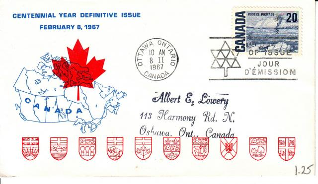 1967 - Personal - Blue with Red Leaf - 20c
