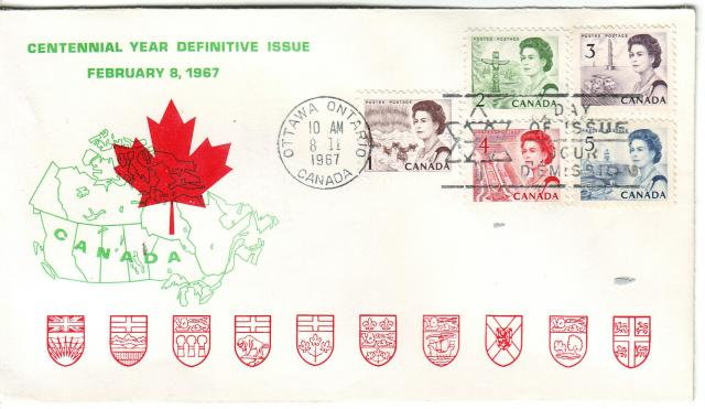 1967 - Personal - Green with Red Leaf - Comb - 2,3,1,4,5