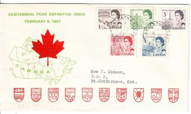 1967 - Personal - Green with Red Leaf - Comb - 1,2,3,4,5
