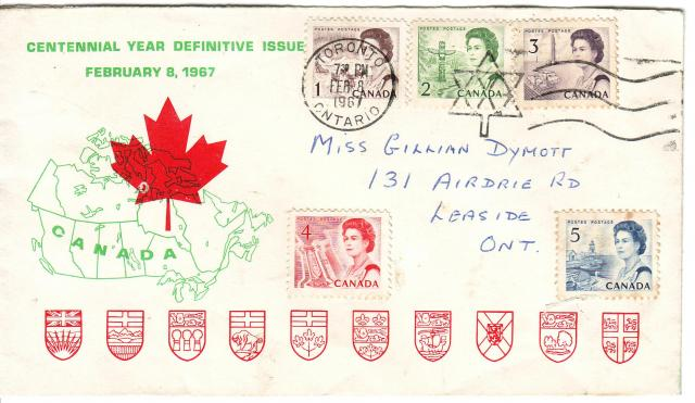 1967 - Personal - Green with Red Leaf - Comb - 1,2,3--4,5.