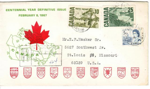 1967 - Personal - Green with Red Leaf - Comb - 10,25,5