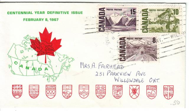 1967 - Personal - Green with Red Leaf - Comb - 15,10,8