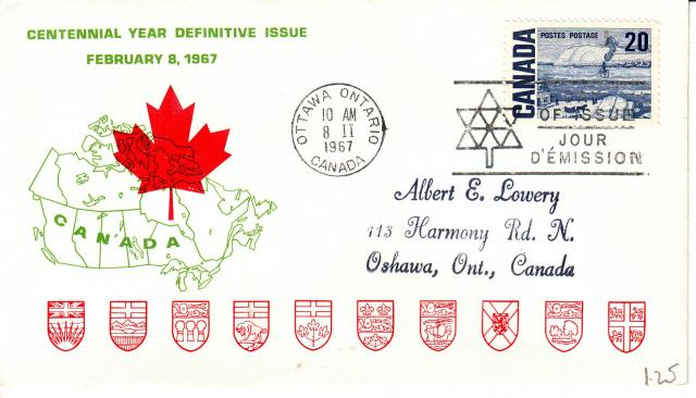 1967 - Personal - Green with Red Leaf - 20c