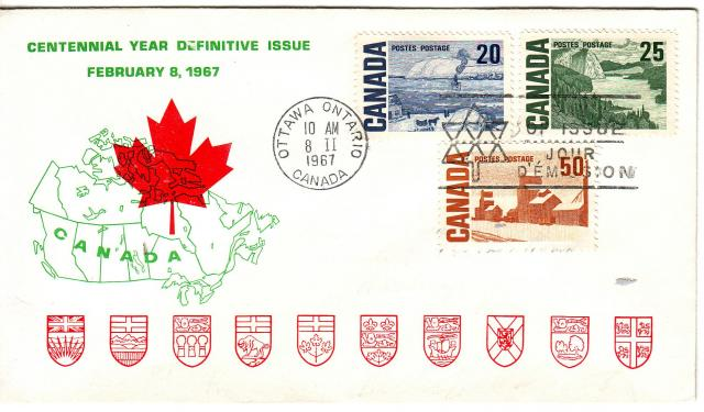 1967 - Personal - Green with Red Leaf - Comb - 20,25,50