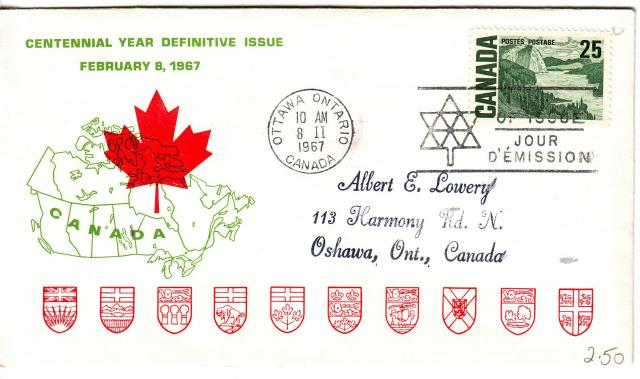 1967 - Personal - Green with Red Leaf - 25c