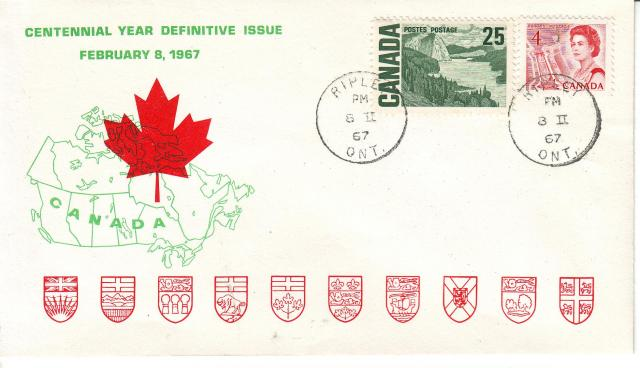 1967 - Personal - Green with Red Leaf - Comb - 25,4