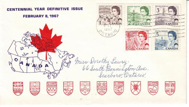 1967 - Personal - Purple with Red Leaf - Comb - 1,2,3,4,5