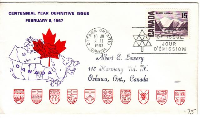 1967 - Personal - Purple with Red Leaf - 15c