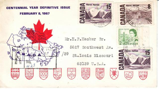 1967 - Personal - Purple with Red Leaf - Comb - 15,8,2,15. - Registered
