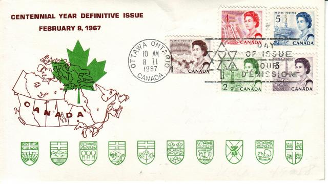 1967 - Personal - Brown with Green Leaf - Comb - 4,5,1,2,3