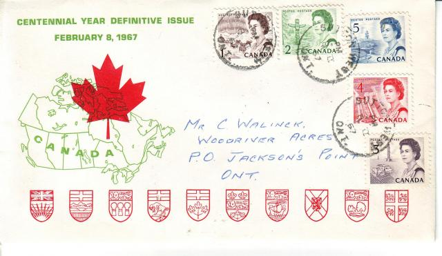 1967 - Personal - Green with Red Leaf - Comb - 1,2,5,4,3