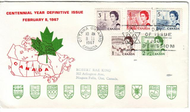 1967 - Personal - Red with Green Leaf - Comb - 3,4,5,1,2