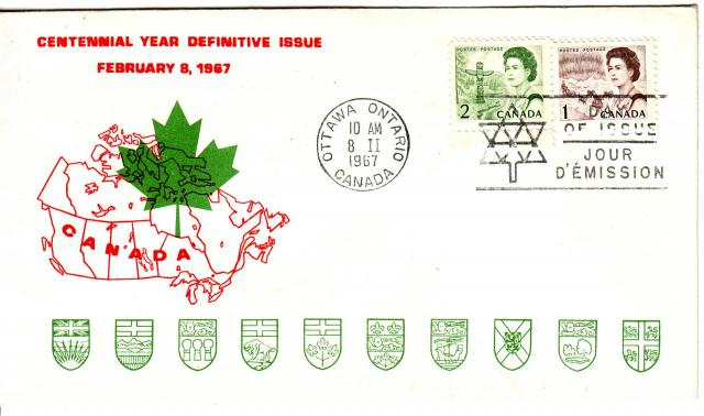 1967 - Personal - Red with Green Leaf - Comb - 2,1