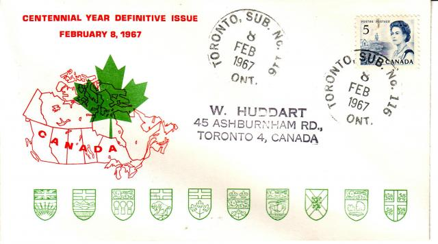1967 - Personal - Red with Green Leaf - 5c