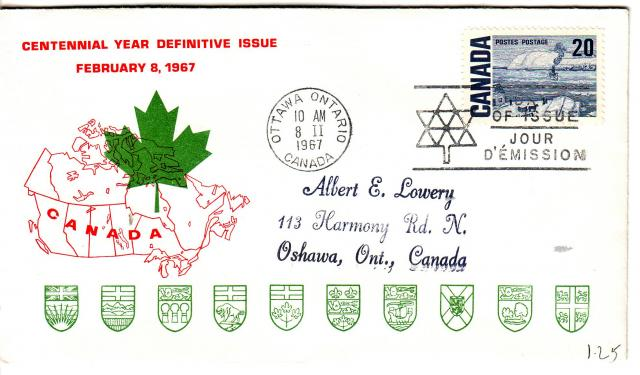 1967 - Personal - Red with Green Leaf - 20c
