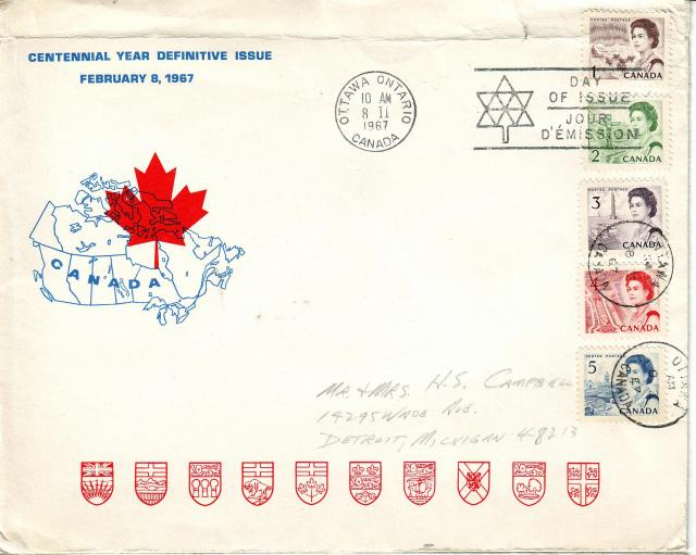 1967 - Personal - Blue with Red Leaf - Large - 1,2,3,4,5
