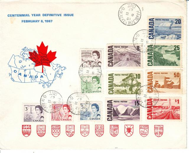 1967 - Personal - Blue with Red Leaf - Large - 20c..1c to 1.00