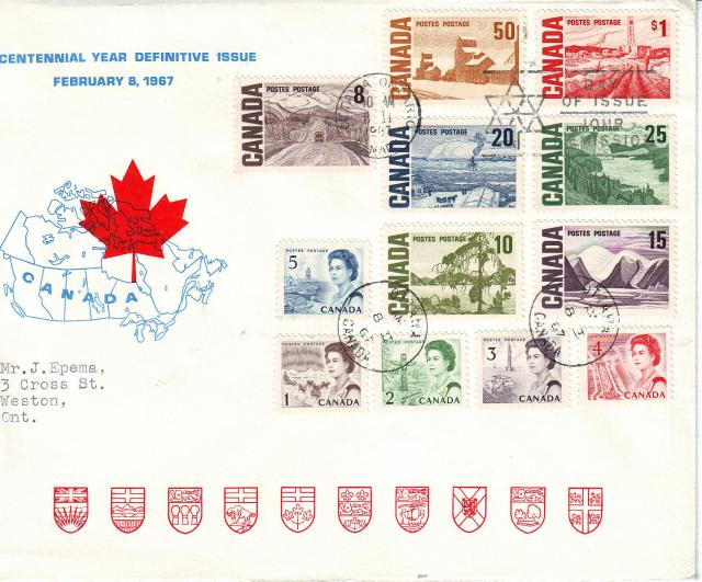 1967 - Personal - Blue with Red Leaf - Large - 50c..1c to 1.00