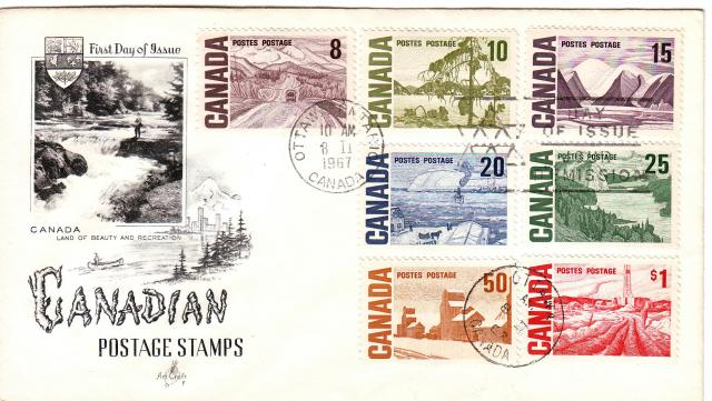 1967 - Art Craft - F - Comb - 8,10,15,20,25,50,1.00