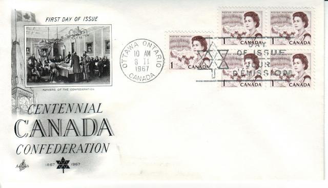 1967 - Art Craft - Confederation - 1c x5