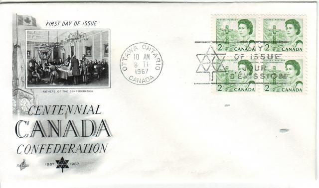 1967 - Art Craft - Confederation - 2c x4