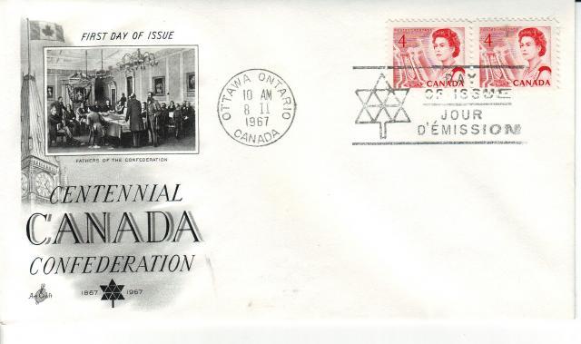 1967 - Art Craft - Confederation - 4c x2