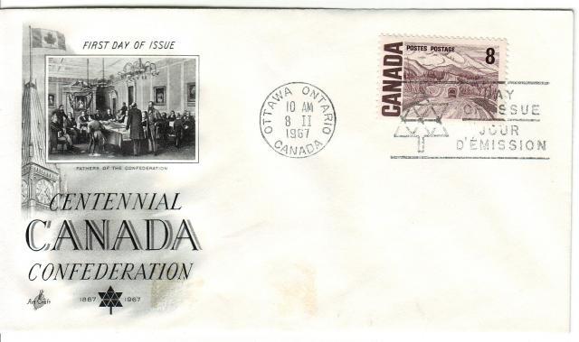 1967 - Art Craft - Confederation - 8c