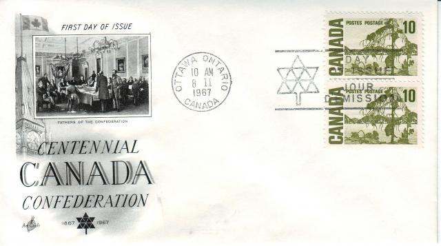 1967 - Art Craft - Confederation - 10c x2