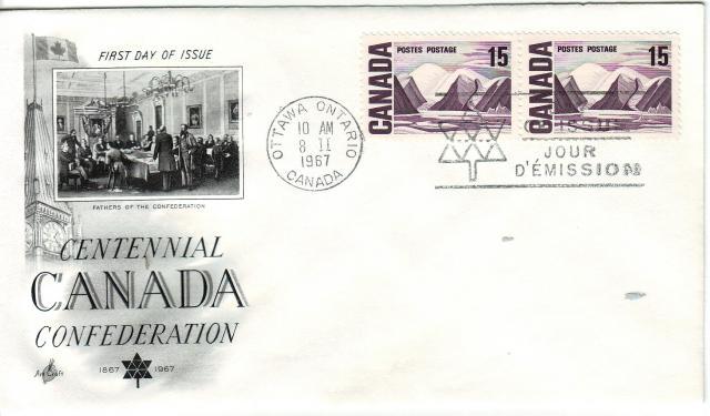 1967 - Art Craft - Confederation - 15c x2