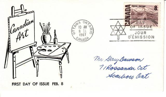 1967 - Adelphia Stamp & Coin Co - 8c