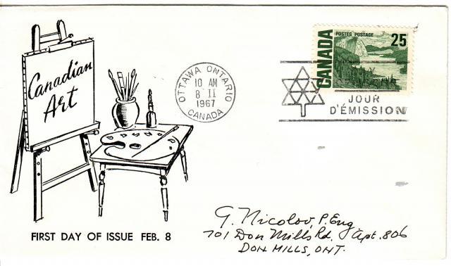 1967 - Adelphia Stamp & Coin Co - 25c
