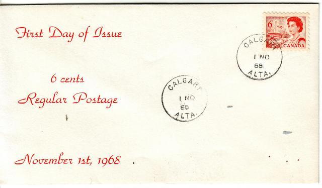 1967 - 6c Orange - Calgary