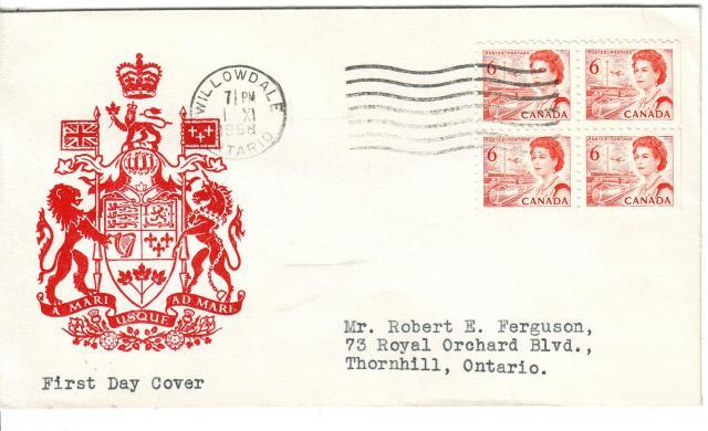 1967 - 6c Orange - Crest of Canada
