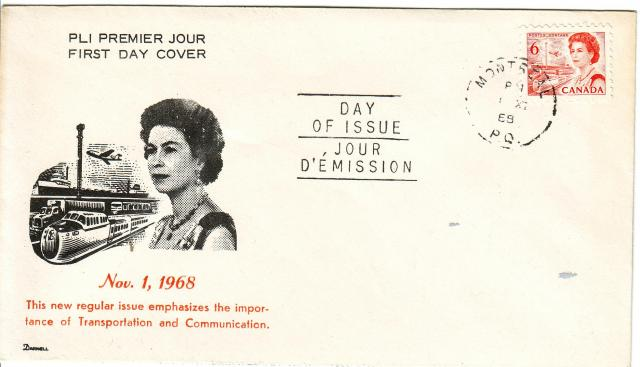 1967 - 6c Orange - Darnel